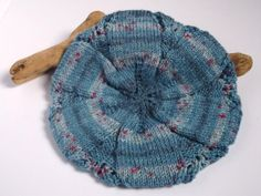 Hand knitted self patterning blue or denim Tam / by BrawlbinCrafts, £18.00