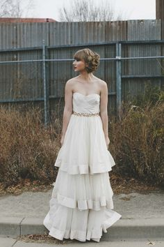 Gown The Barefaced Bride Stylist Carla Bower Model Sam Bullen