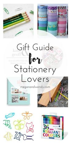 Ultimate Gift Guide for stationery lovers! From pencils, tape, custom notebooks and more.