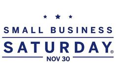 Support Small Business Saturday.