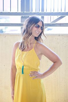 Kim Ray | Forever 21 | Tassel necklaces | Yellow | Dresses | Gray Monroe | Wedges | Summer Style