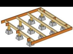 How to build a deck footings & foundations - YouTube