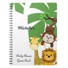 GUEST BOOK Baby Shower Guest Book Notebook