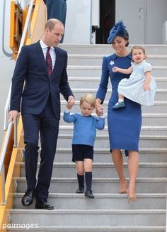 Duke & Duchess of Cambridge, with Prince George & Princess Charlotte, Canada arrival September 2016