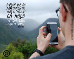 """Perdón por no contestarte tenía el celular en modo """"pa' que veas lo que se siente"""" ........................................................... Autor: Anónimo Foto: Paula Lavalle Diseño y Diagramación: DG. Carlos León @dgcarlosleon agradecimientos a @unsplash ...................................  DG CARLOS LEON  Agencia Online de Diseño & Publicidad ............................................ #love #anaco #dgcarlosleon #diseño #publicidad #marketing #photooftheday #me #instamood #TMG…"""