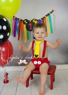 Mickey Mouse cake smash outfit. Mickey mouse by LynleesLooks
