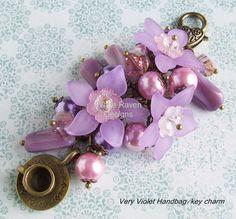 Handbag/key charm by White Raven Designs