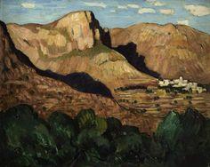Marsden Hartley, 1877 - 1943, Beau Blanc, St. Jeannet, 1924, Oil on wood #CBartistseye