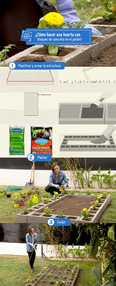 ¿Listos para apoderarse del jardín? te enseñamos como hacer una huerta con bloques de concreto #Sodimac #Homecenter #Hum