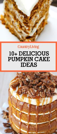 Save these pumpkin cake ideas for later by pinning this image! Follow Country Living on Pinterest for more sweet Halloween recipes.