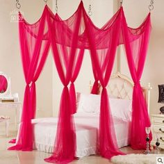 Cute canopy for a girls room, I'll choose white or another light color instead Girls Bedroom, Bedroom Decor, Bedrooms, Bedroom Ideas, Decoracion Habitacion Ideas, Lace Back Wedding Dress, Baroque Wedding, Lace Bedding, Large Beds