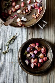 The revelation that you can cook a radish and eat them warm totally flipped my opinion of the tiny red veg.  These Rosemary Roasted Radishes look like a delicious & simple recipe.