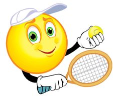 """It's time for another National Tennis Month Tennis Fixation Super Giveaway Extravaganza giveaway – and I know you are going to love this one!I'm calling this my """"Tennis Team… Smiley Emoji, Cute Emoji, Funny Smiley, Sports Emojis, Tennis Crafts, Emotion Faces, Tennis Funny, Emoji Images, Face Off"""