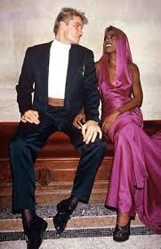 Flashback: former couple, Grace Jones and Dolph Lundgren. I don't pity the fools, who might have tried to mess with this duo! LOL
