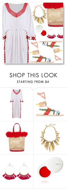 """Beach Style"" by simona-altobelli ❤ liked on Polyvore featuring Ancient Greek Sandals, Nannacay and lilah b."