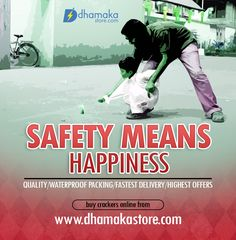 Play safe with fireworks during diwali!!