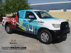 High quality and high resolution vinyl truck wrap for Honda of the Desert. Contact us DesertWraps.com 760-935-3600  #TruckWrap #Toyota #Tundra #VehicleWrap #PalmDesert #CathedralCity