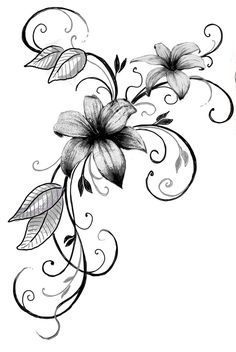 Professional tattoos – from design and draft of the motif to implementation … – diy tattoo images - flower tattoos Lily Tattoo Design, Flower Tattoo Designs, Design Tattoos, Diy Tattoo, Lirio Tattoo, Body Art Tattoos, Sleeve Tattoos, Life Tattoos, Tatuagem Diy