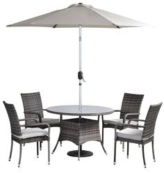 Free delivery over to most of the UK ✓ Great Selection ✓ Excellent customer service ✓ Find everything for a beautiful home Garden Table And Chairs, Table And Chair Sets, Dining Table Chairs, Metal Garden Furniture, Rustic Outdoor Furniture, Outdoor Bar Sets, Round Dining Set, Modern, Cushions
