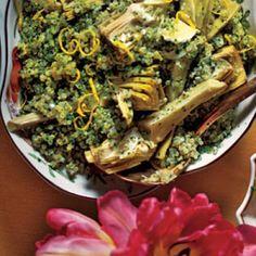 Quinoa Salad with Artichokes and Parsley   CookingLight.com