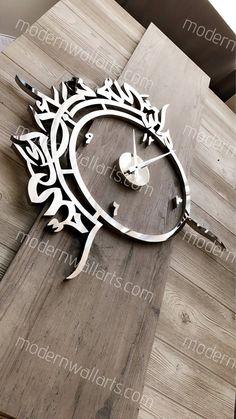 We hand make luxury stainless steel and wood Islamic decor Wall Art Uk, Modern Wall Art, Arabic Calligraphy Design, Islamic Calligraphy, Islamic Wall Decor, Metal Clock, Wooden Clock, Wall Clock Design, Arabic Art