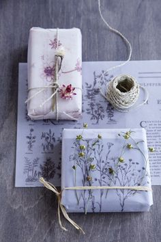 ... ♥ ...Gift Wrapping #florals #packaging