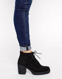 Buy Vagabond Grace Black Textile Ankle Boots at ASOS. Get the latest trends with ASOS now. Sock Shoes, Cute Shoes, Me Too Shoes, Shoe Boots, Mode Hipster, Hipster Shoes, Black Ankle Boots, Heeled Boots, Vagabond Shoes