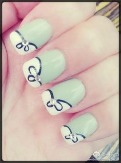 Neon Nails Trend for Spring 2013 - mint green nails