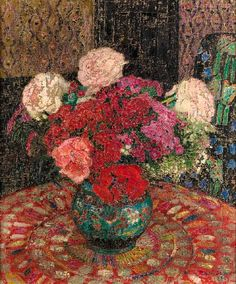Leon de Smet, Still Life with Flowers in a Pot