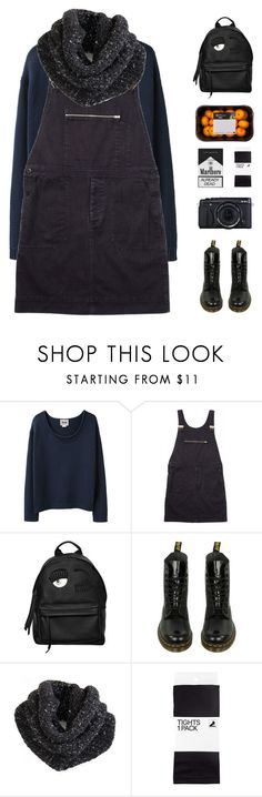 """""""Untitled #587"""" by stargazin-g ❤ liked on Polyvore featuring Acne Studios, Margaret Howell, Chiara Ferragni, Dr. Martens, Fujifilm, H&M, Winter and Dark"""