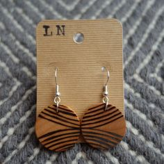 I am loving wood burned earrings!