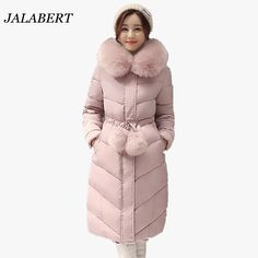 cd6fd1e27e1a7 2017 women large fur collar long Slim parkas padded jacket female winter  weatherization waist ladies coat with fur ball cotton - Tshirt and Jeans  Store
