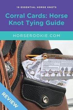 Corral Cards are a step-by-step pocket guide for horse knots. You can learn all the essential knots you'll need for everyday tying or camping with your horse, plus these cards serve as great reminders if you need to quickly check if you tied a particular knot correctly.   #horseknots #equineknots #howtotieahorse #horserookie #corralcards #knottying