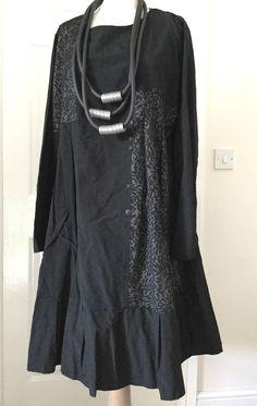 Lagenlook C Fait Pour Vous by D'celli asymmetric qurky dress L/XL  black SALE #CFAITPOURVOUSbydcelli #DRESS