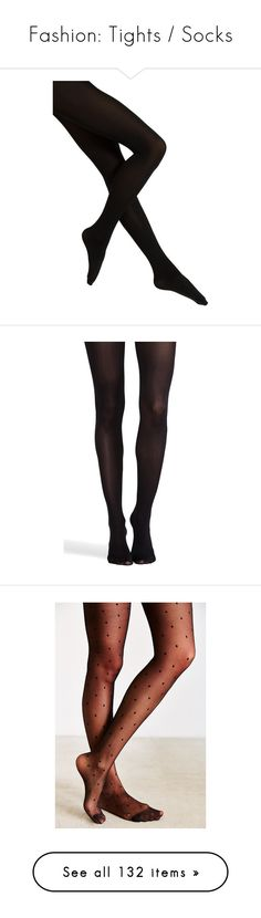 """Fashion: Tights / Socks"" by katiasitems on Polyvore featuring intimates, hosiery, tights, fillers, accessories, legs, black, patterned hosiery, wet look stockings and falke tights"