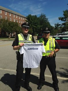 To protect and serve. Thank you! #UNH
