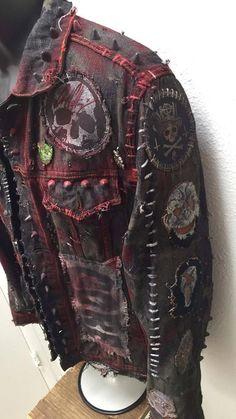 punk fashion X-Jacke von Chad Kirsche image 6 fashion diy Punk Outfits, Mode Outfits, Fashion Outfits, Fashion Trends, Batman Outfits, Hipster Outfits, Punk Fashion, Grunge Fashion, Fashion Top