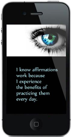 Just one of over 2350 pages/screens in the new Affirm Your Life iPhone app!