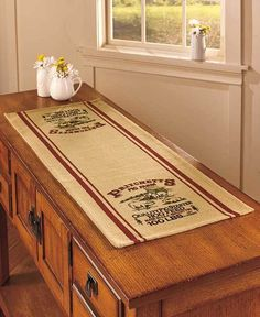 """Country Table Runner Pritchetts Pig Farm 14""""W x 36""""L Cotton Country Home Decor #Unbranded"""