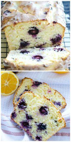 Lemon blueberry bread dessert recipe