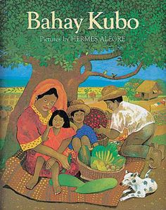 "Bahay Kubo illustrated by Hermes Alegre ""Bahay Kubo"" is a folk song that practically enumerates the plants that are grown around the pre-spanish Philippine house made of combinations of bamboo and cogon grass. Philippine Houses, Philippine Art, Filipino Art, Filipino Culture, Old Folk Songs, Bahay Kubo, Philippines Culture, Short Stories For Kids, Tagalog"