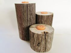 Lake House Decor Set of 3 Reclaimed Candle by DivineRusticCreation, $32.95