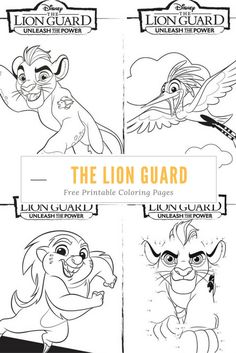 Unleash the Power with these great The Lion Guard coloring pages and activity…
