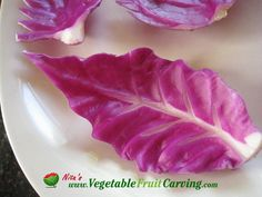 Cabbage Leaves Garnish - Taught in Nita's Vegetable and Fruit Carving 101