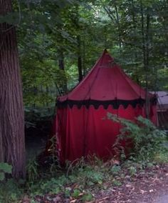 <<Red tent by Android>> looks like their could be mischief afoot.