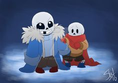 Why? Because I could! I just really wanted to draw little Sansy and Papy, I imagined Sans was very overprotective and Papyrus never strayed too far from his brother's side :3