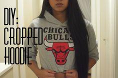 DIY: Cropped Hoodie/Sweater