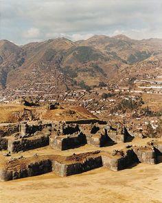 Inca ruins of Saccsahuaman above Cusco, Peru