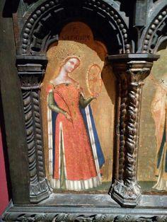 Madonna con bambino (parziale). Jacopo Bellini 1396-1470 Pinacoteca di brera Medieval Life, Medieval Fashion, Medieval Art, Renaissance Art, Work Attire Women, Catholic Churches, Split Skirt, Female Clothing, Old Clothes
