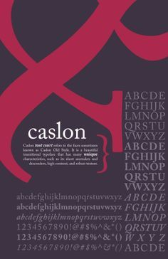 caslon typeface posters - Google Search